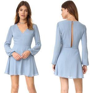 Lovers & Friends Shimmy V-Neck Dress in Dusty Blue